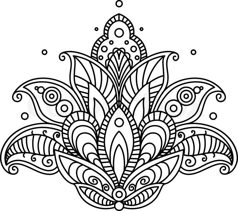 Stock vector of \'Pretty ornate paisley flower design element in a ...