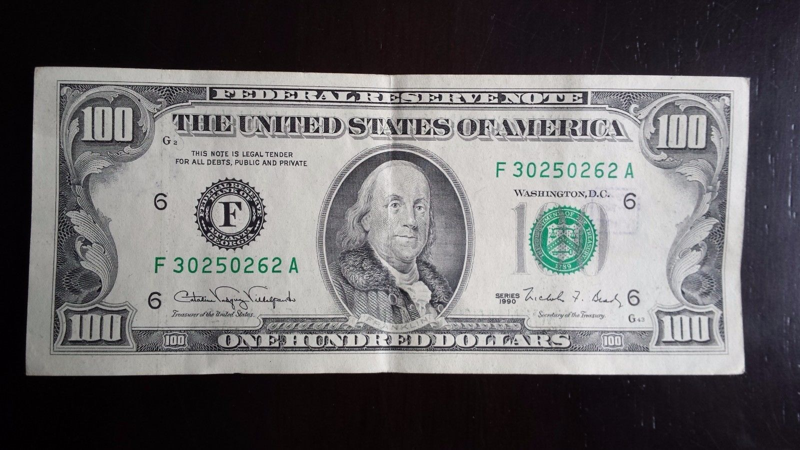 Coins Collectibles 1990 Old Paper Money 100 Dollar Bill Federal