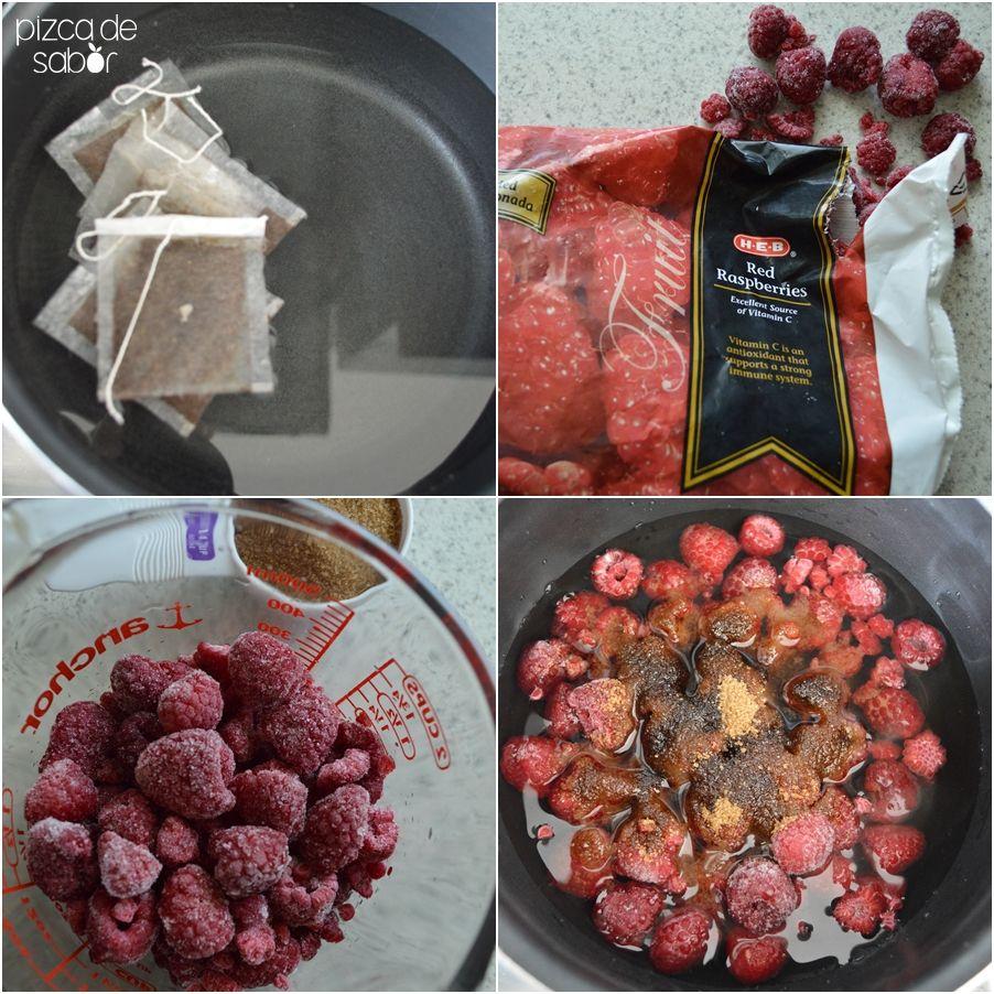 Té helado con frambuesas www.pizcadesabor.com
