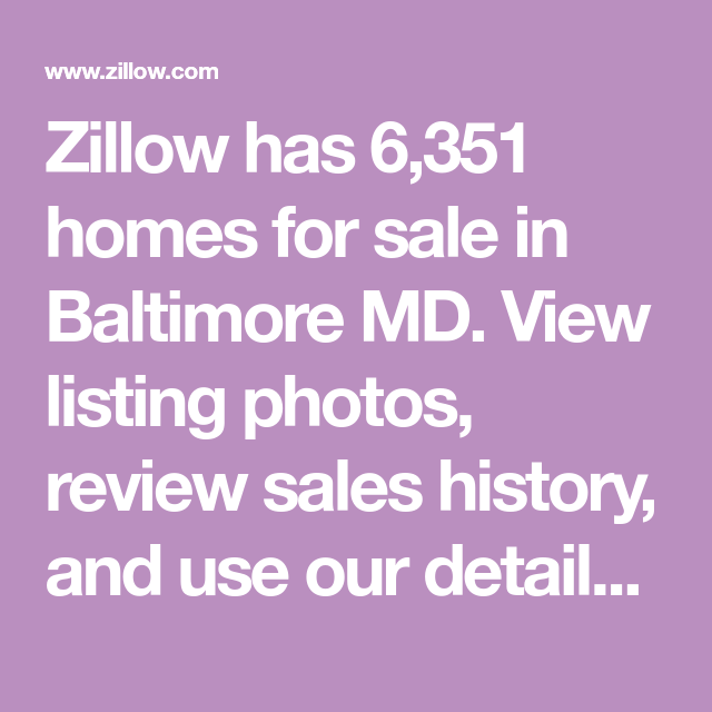 3 Bedroom Apartments Zillow: Zillow Has 6,351 Homes For Sale In Baltimore MD. View
