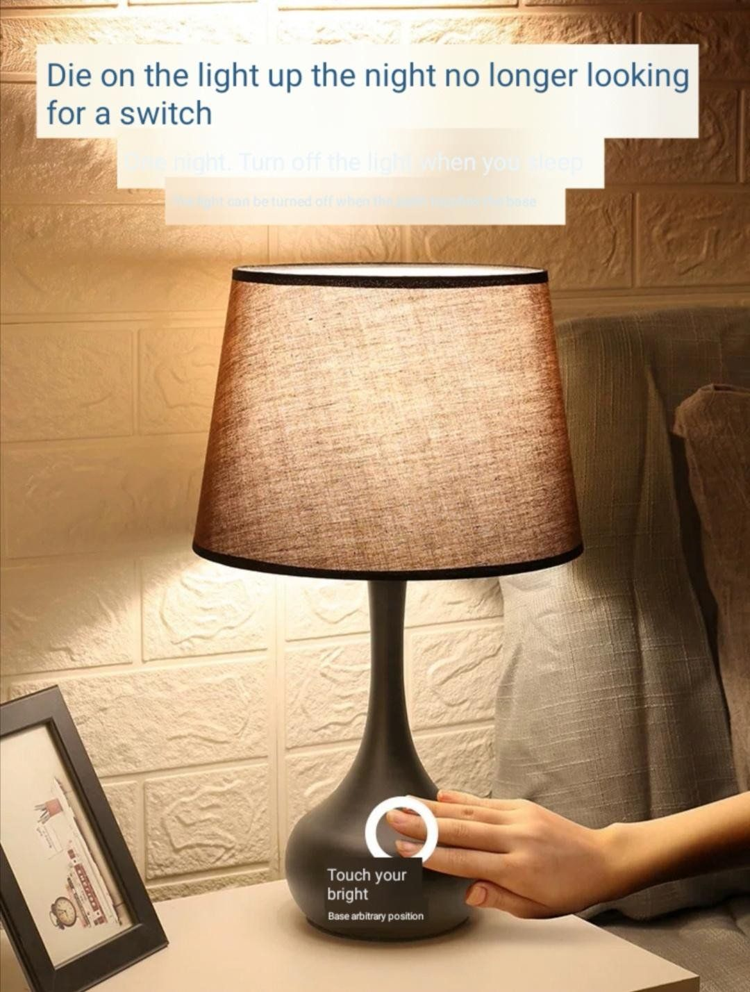 Touch Table Lamps Bedroom American Table Lamp Bedroom Bedside Simple Modern Induction Lamp Warm Nordic Adj In 2020 Touch Table Lamps Table Lamp Table Lamps For Bedroom
