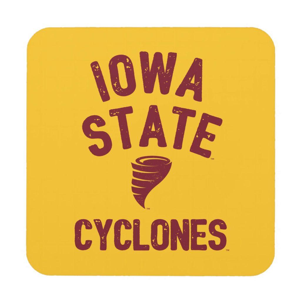 Iowa State University | Iowa Cyclone Distressed Beverage Coaster | Zazzle.com