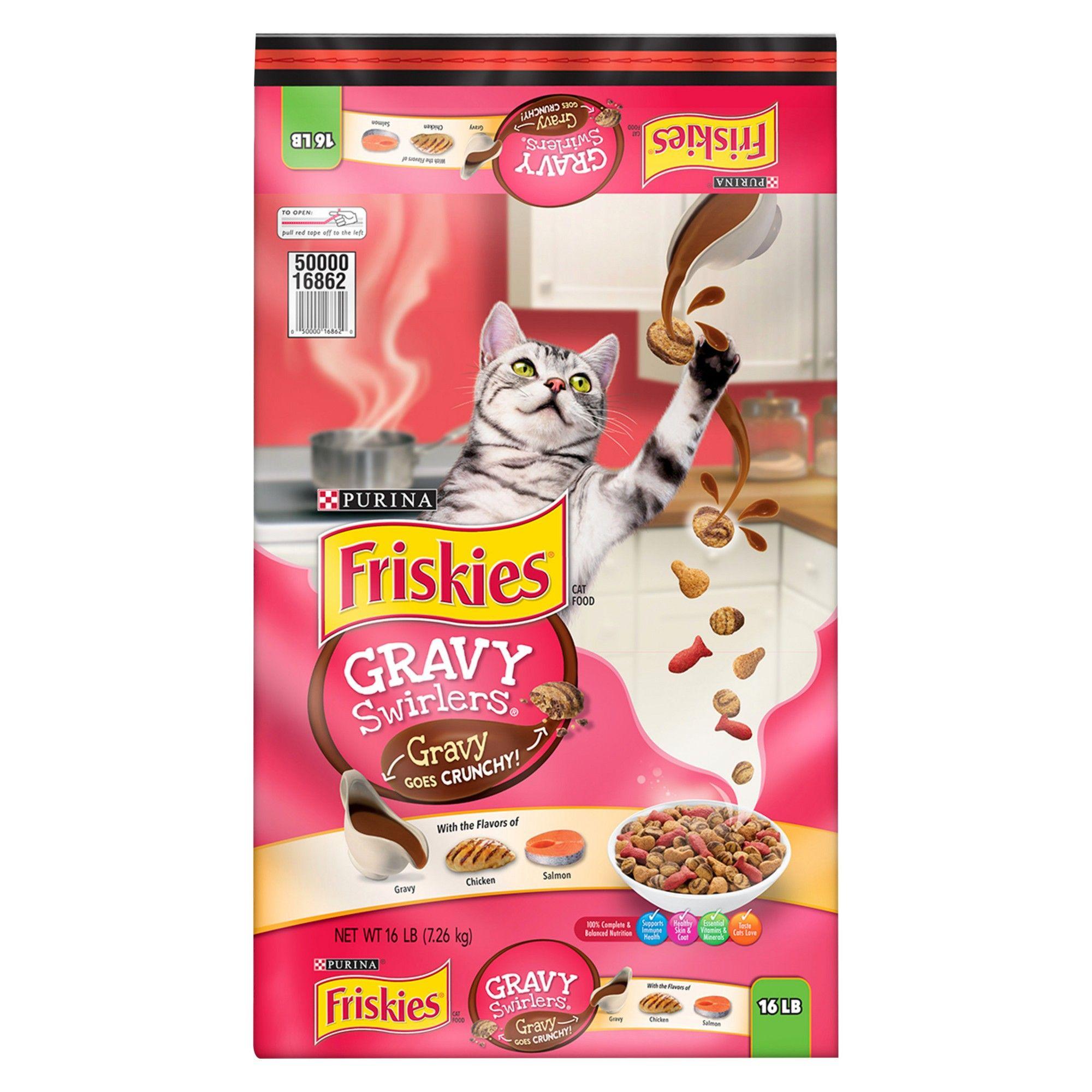 Friskies gravy swirlers dry cat food 16lbs