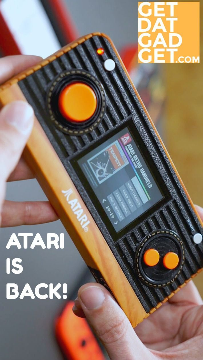 The Atari Retro Handheld Console is a stunning re-imagined Atari handheld with HDMI, 50 built-in games and a new entry level price! #GetdatGadget #Atari #ConsoleGaming #PortableGaming #AtariRetro #RetroGaming #8bitGaming #HandheldConsole #VideoGames
