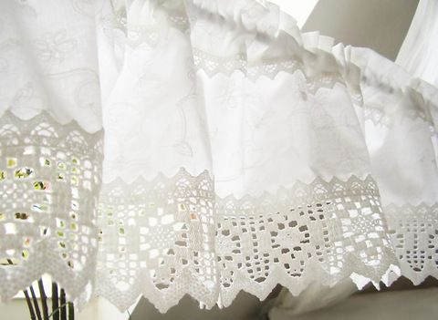 Gardine Landhausstil weiß shabby chic 105 Interior Curtains - wohnzimmer gardinen landhausstil