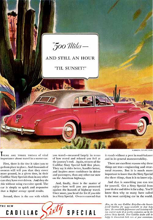 for those who imagine that the pink cadillac is a fifties conception old carz advertising. Black Bedroom Furniture Sets. Home Design Ideas