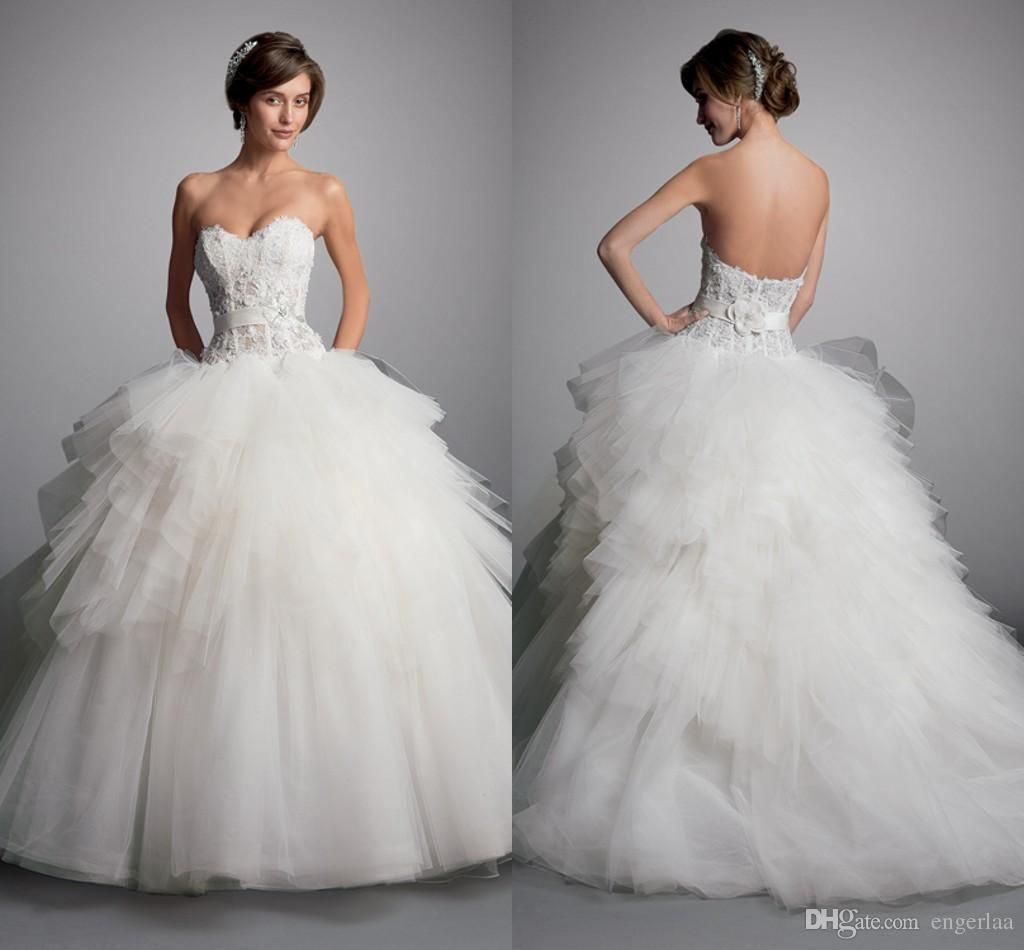 2015 Corset Bodice Ball Gown Wedding Dresses Sweetheart Neckline ...