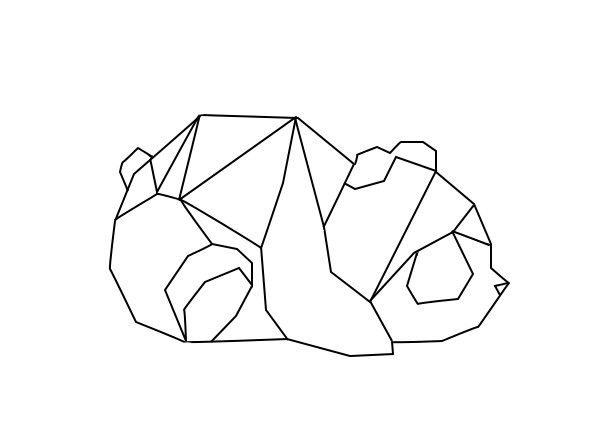 Panda Geometric Geometrique More Boho Art Dessin Dessin Origami