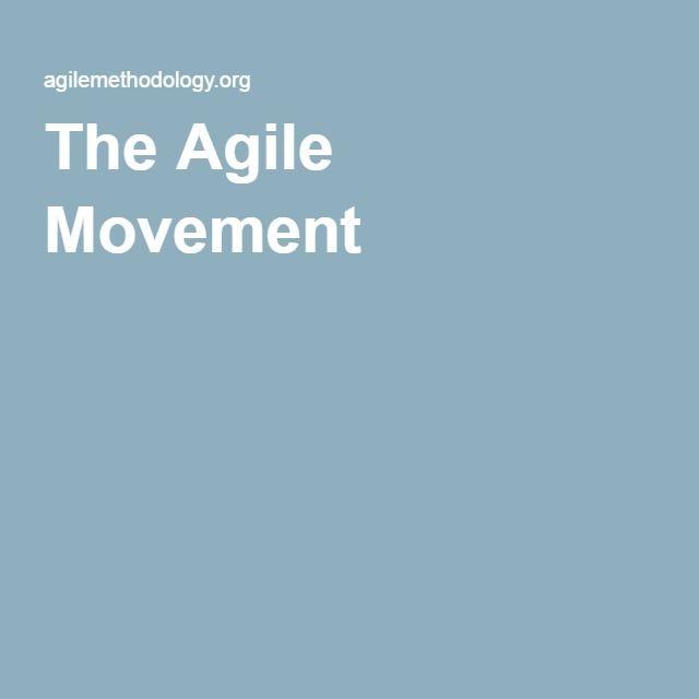 The Agile Movement Agile Pinterest The o\u0027jays - open source spreadsheet