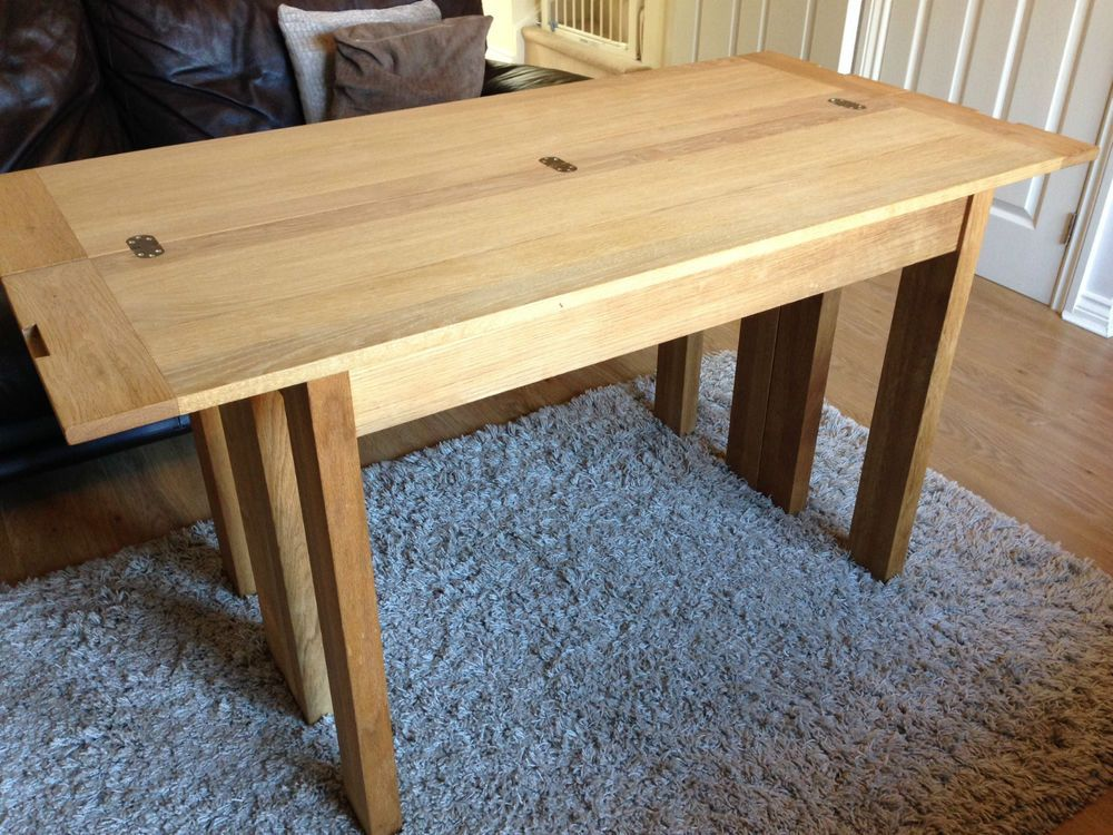 Laura Ashley Brompton Oak Extending Console / Dining Table