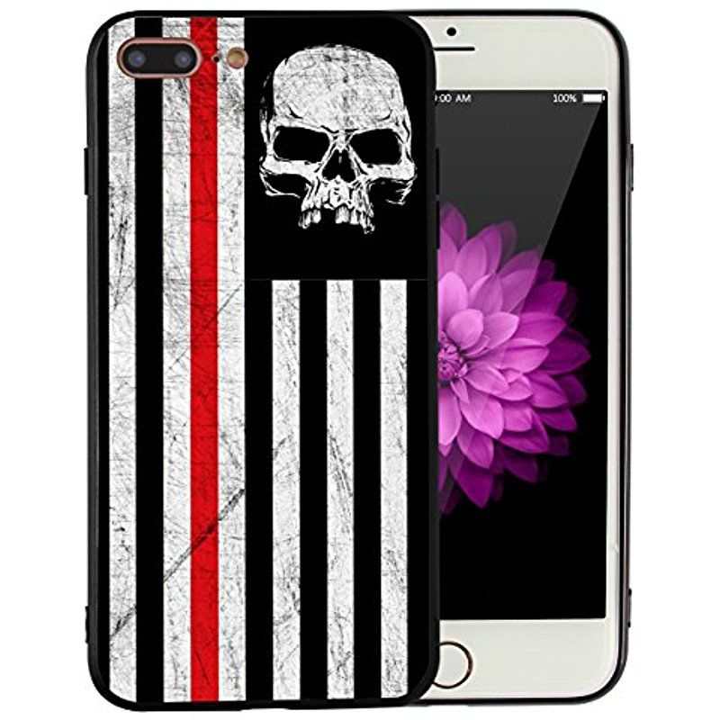 American Flag Skull Iphone 7 Plus Iphone 8 Plus Case Black And White Usa Vintage Retro Iphone7plus Iphone8plus Cover P Iphone 7 Plus Iphone 8 Plus Cool Designs