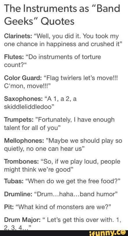 Marching band dating stereotypes