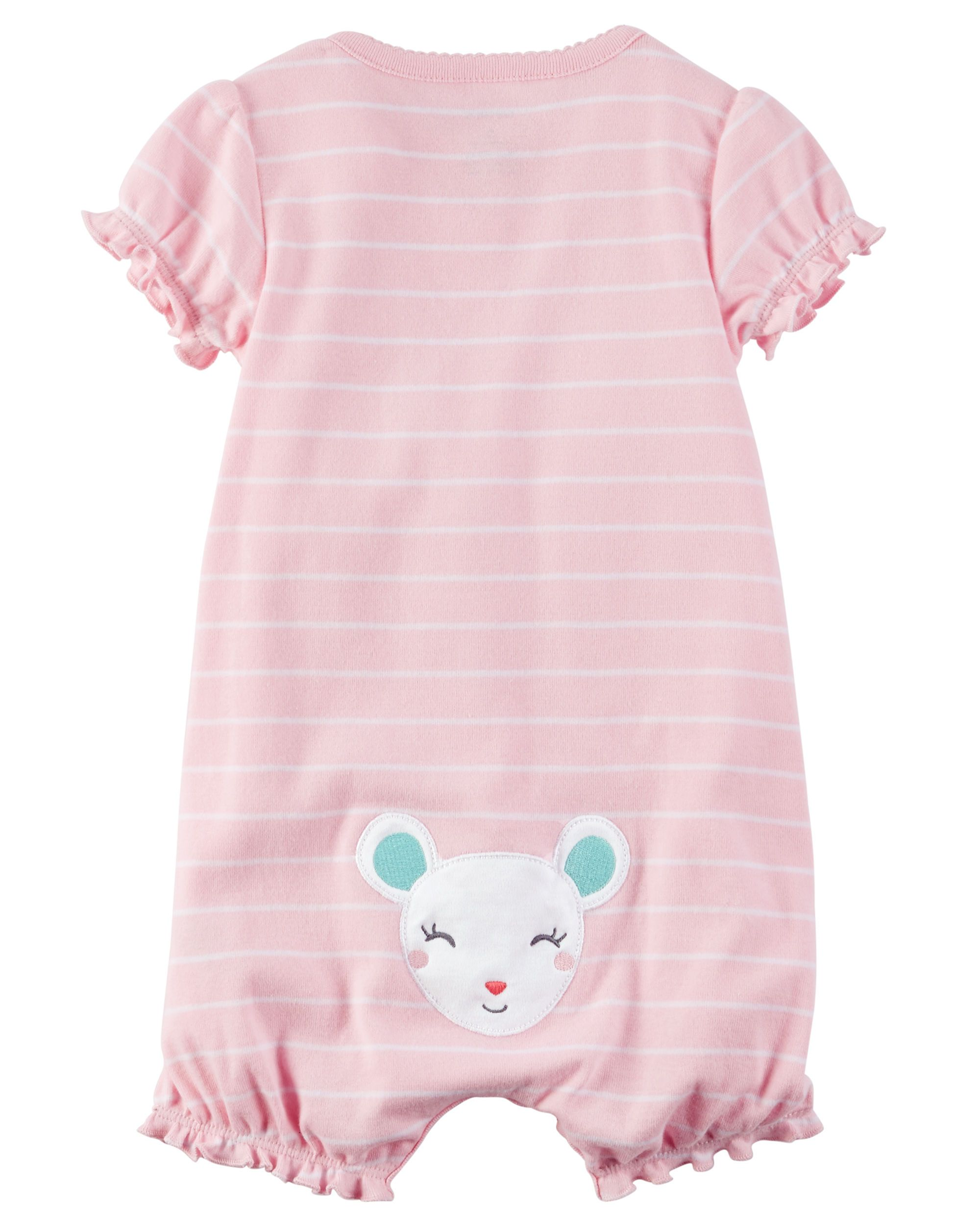 Baby Girl Snap Up Cotton Romper from Carters Shop clothing