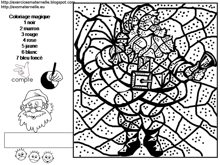 Coloriage Magique Cp Pere Noel.Coloriage Magique Pere Noel Noel Christmas Colors Christmas
