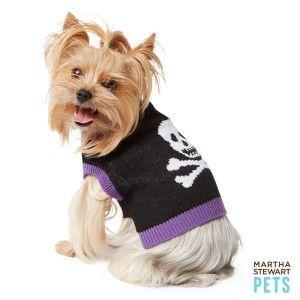 Martha Stewart Pets Skull Halloween Sweater Sweaters Coats Petsmart Dog Costumes Halloween Large Dog Halloween Costumes Dog Halloween
