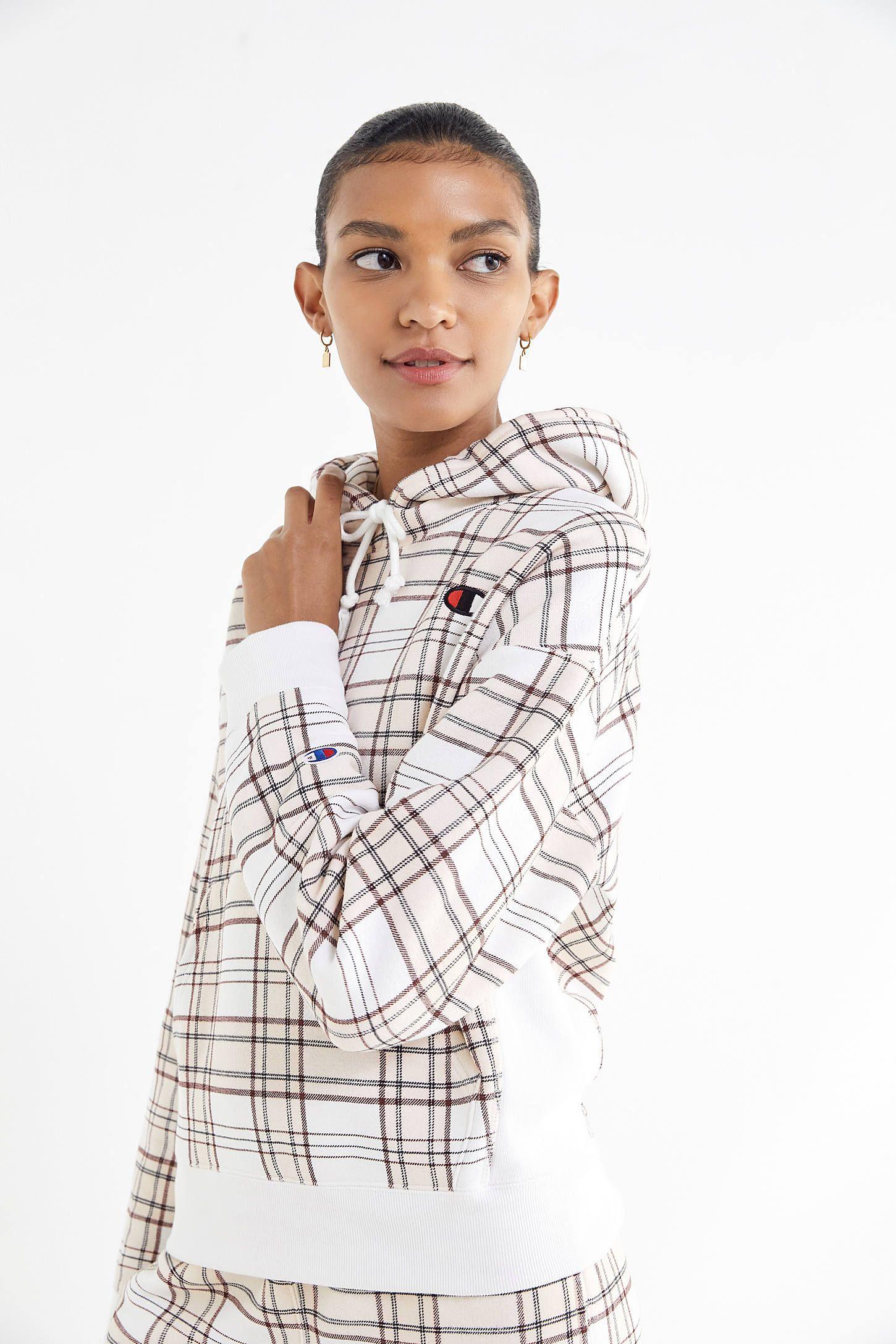 da4ccb7f5 Champion UO Exclusive Plaid Hoodie Sweatshirt