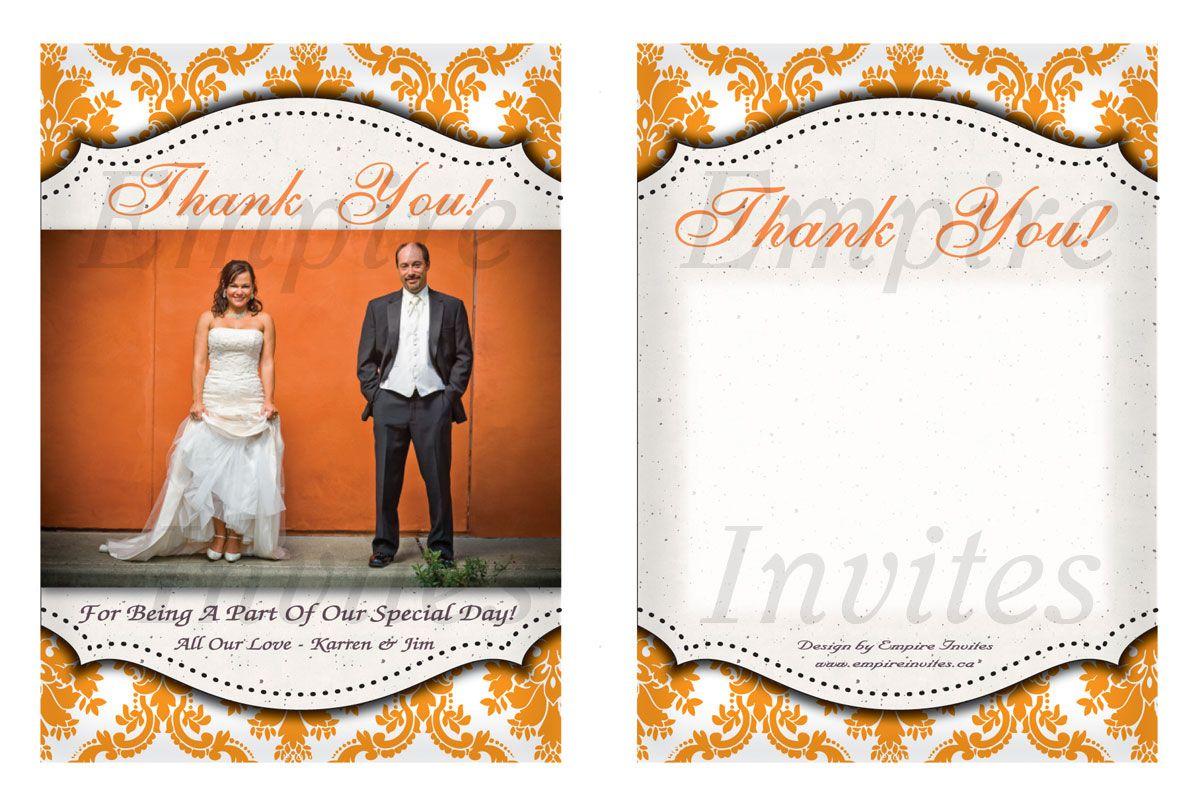 Custom wedding thank you cards From Winnipeg, Canada - EMPIRE ...