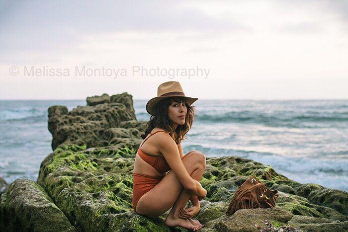 #frankvinyl #sunset #beach #spanishmoss #rocks #waves #ocean #sandiego #california #urbanoutfitters #bikini #retro #melissamontoyaphotography