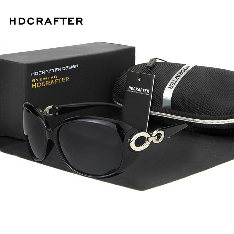 HDCRAFTER 럭셔리 패션 선글라스 여성 태양 안경 라운드 고글 야외 안경 액세서리
