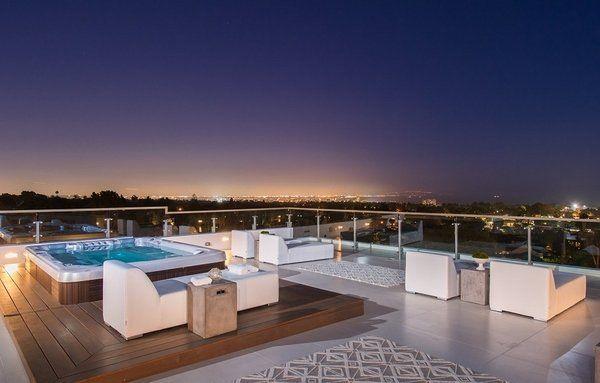 rooftop furniture. Roof Deck Design Ideas Glass Railings Wooden Platform Jacuzzi Modern Outdoor Furniture Rooftop Y