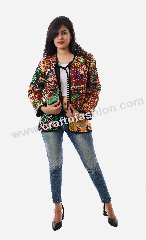 Banjara Bohemian Patch Work Jacket Fashion Wear Indo Western Tribal Jacket Tikki Work Jacket Boho Hippie Tribal Jacket Zari Thread