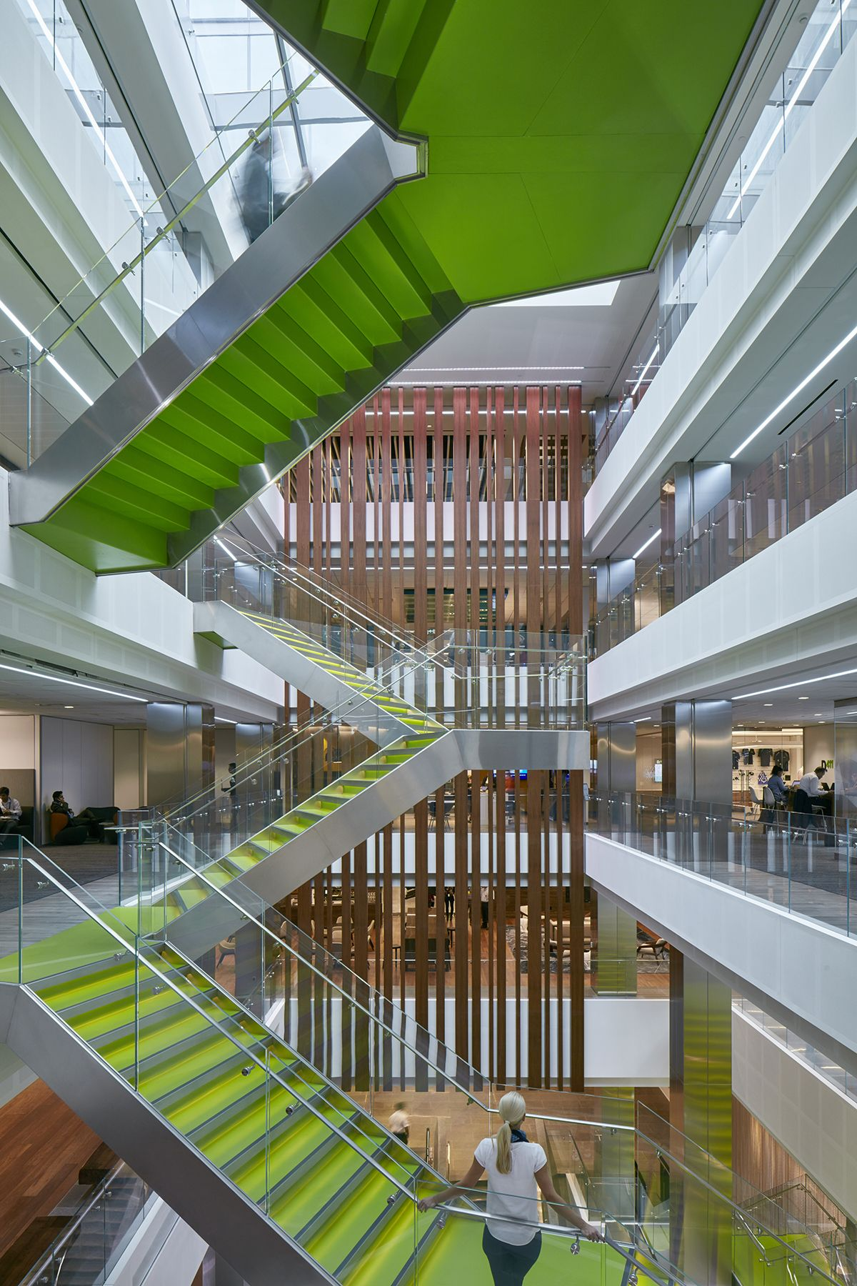 Deloitte Toronto Office Staircase Connecting People And