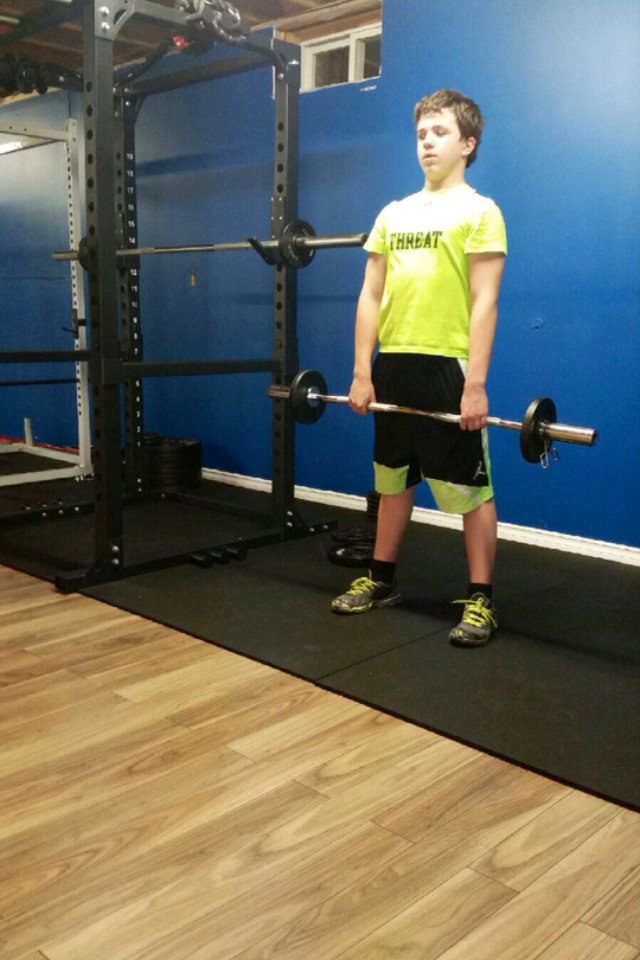 Chris came in to do a leg workout and to learn good form on the fundamentals!