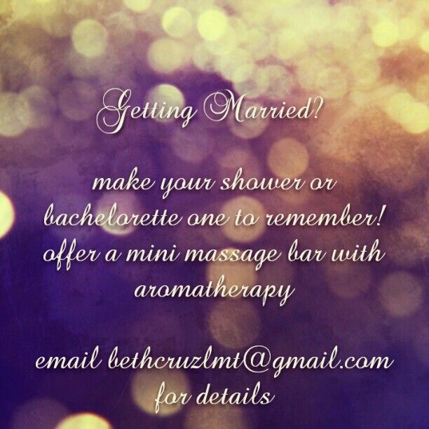 Make your wedding plans extra special by adding a massage ...