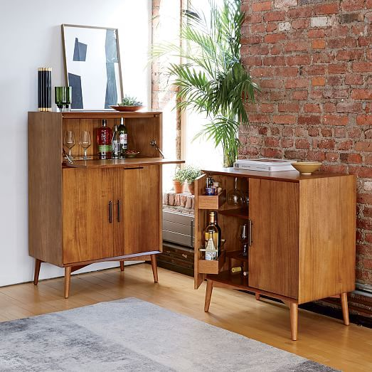 Mid Century Bar Cabinet Small Modern Home Bar Home Bar