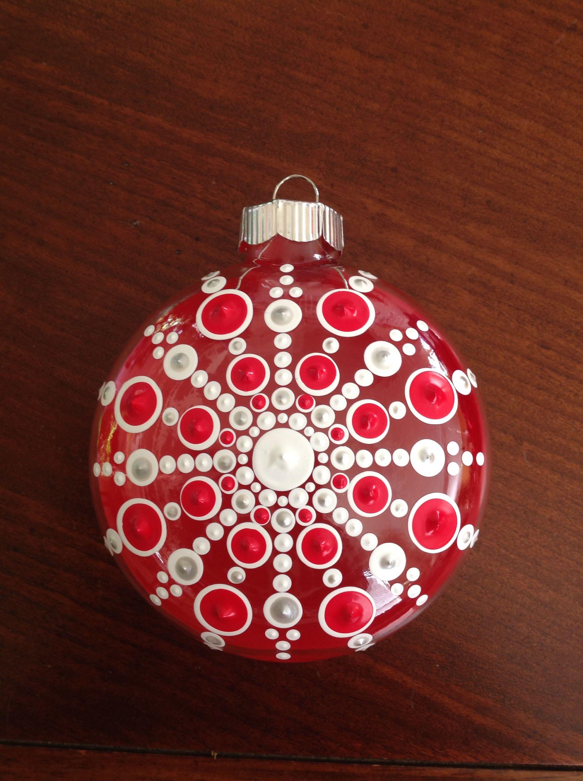 Hand Painted 5 Round Mandala Ornaments Christmas Mandala Painted Christmas Ornaments Diy Christmas Ornaments