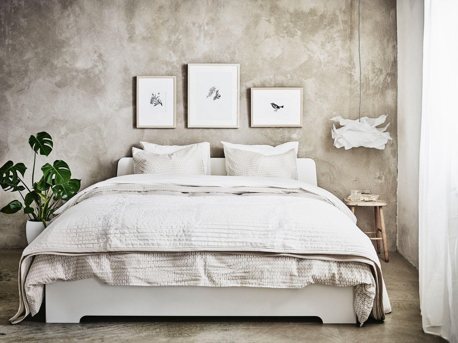 ASKVOLL Bed frame white IKEA Switzerland