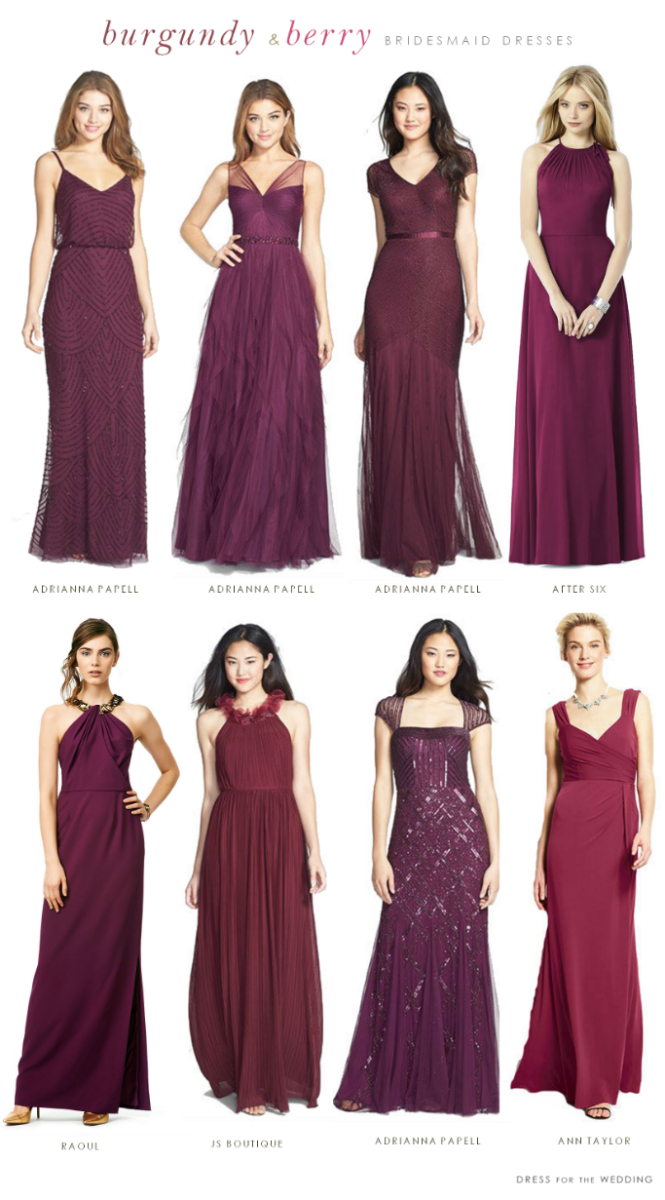 680dc7837a80 Burgundy Mismatched Bridesmaid Dresses | Bridesmaids | Bridesmaid ...