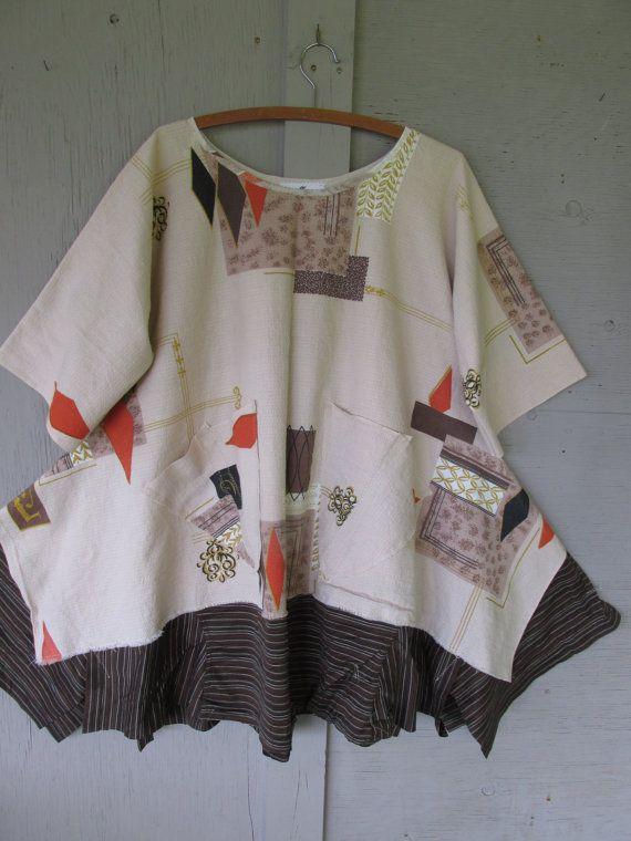 Lagenlook tunic Eco upcycled clothing French от lillienoradrygoods