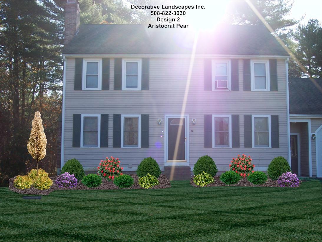 Wonderful Landscape Design Front Of Colonial House Part - 9: Front Yard Landscape Designs In MA | Decorative Landscapes Inc.