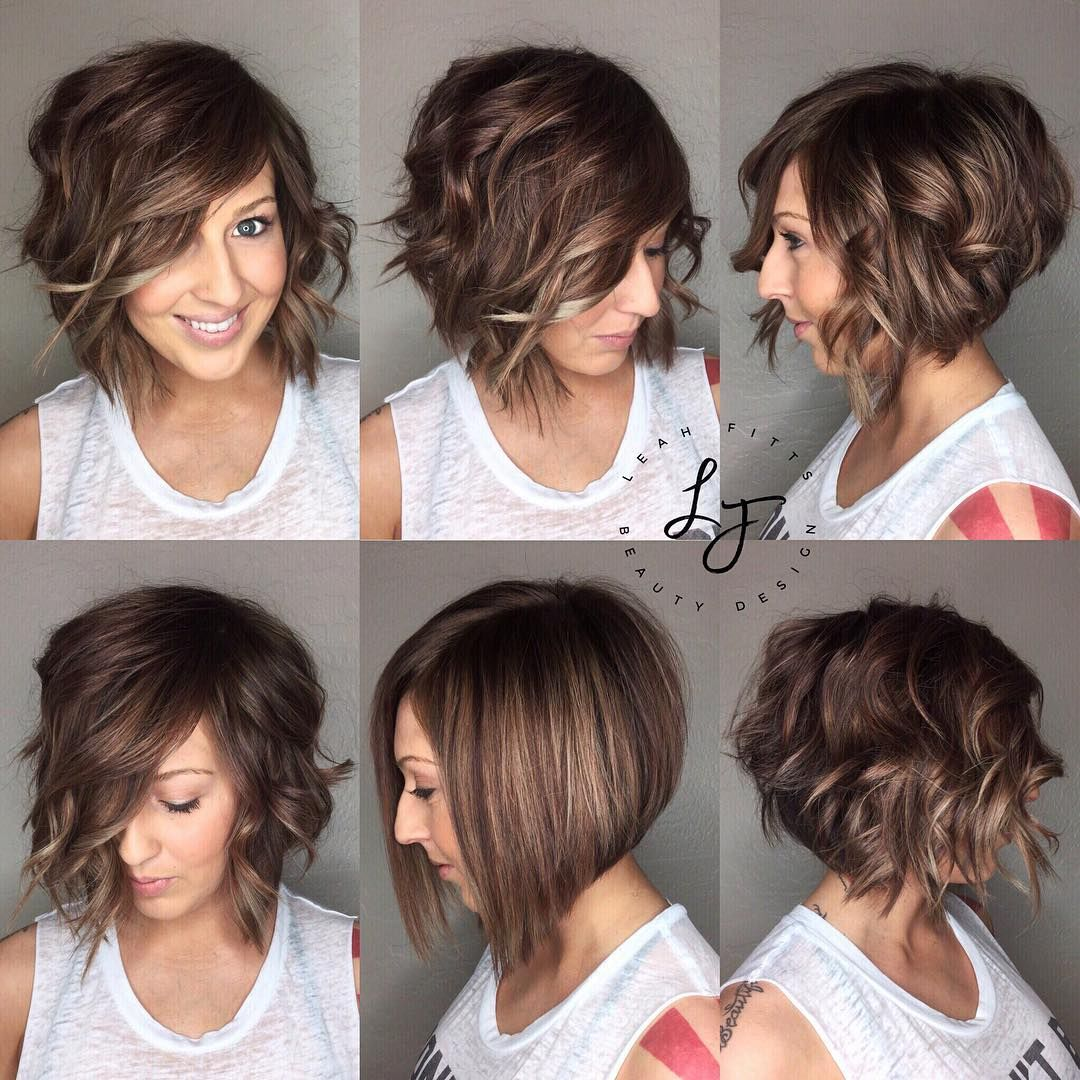Love this cute curly and straight  Thick hair styles, Wavy bob