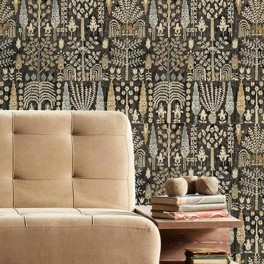 Persian Ikat Peel And Stick Wallpaper Peel And Stick Wallpaper Room Visualizer Roommate Decor