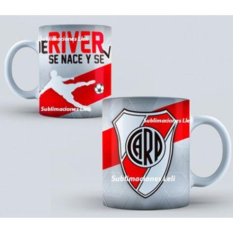 Tazas sublimadas Club Atletico River Plate personalizadas