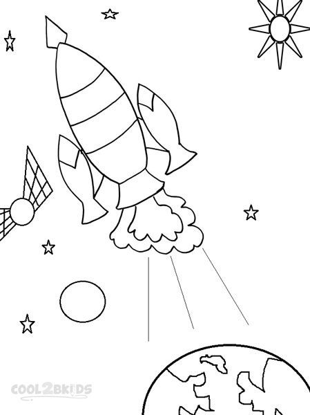 Printable Spaceship Coloring Pages For Kids | Cool2bKids | Space ...