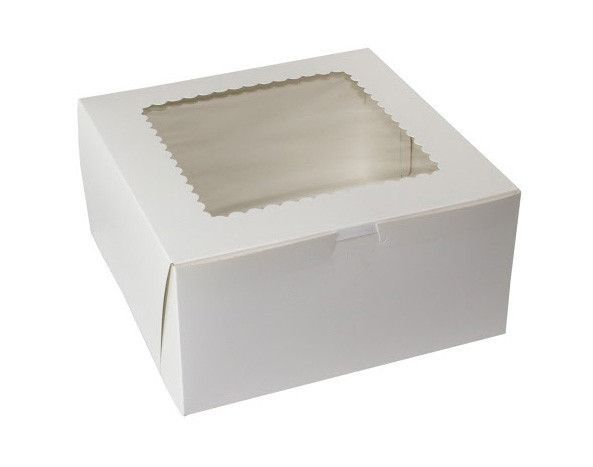 White Cake Boxes With Window 10x10x5 100 Bundle Box Cake White Cake Pie Box