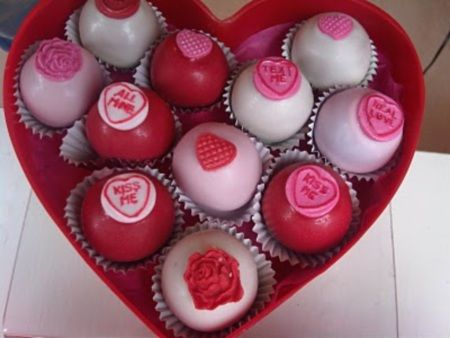 Love Heart Cupcakes Little Giant Cup Cakes Cake Pops Molly
