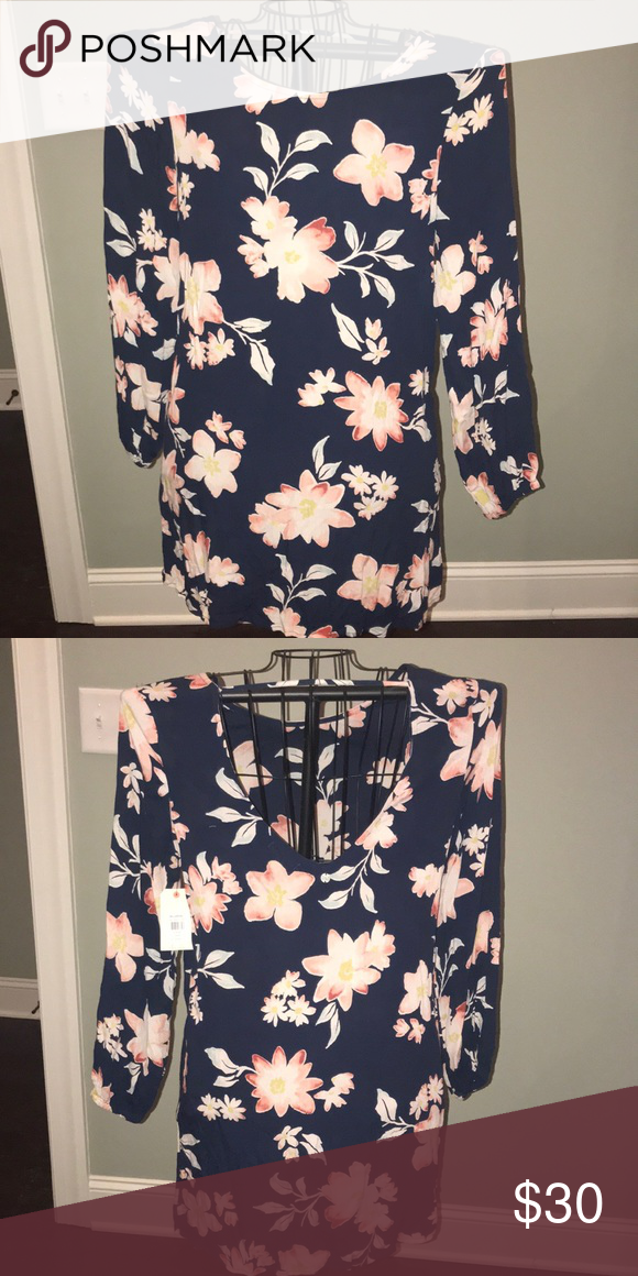 91edad42b880 Billabong Navy flower dress NWT in 2018 | My Posh Picks | Pinterest ...