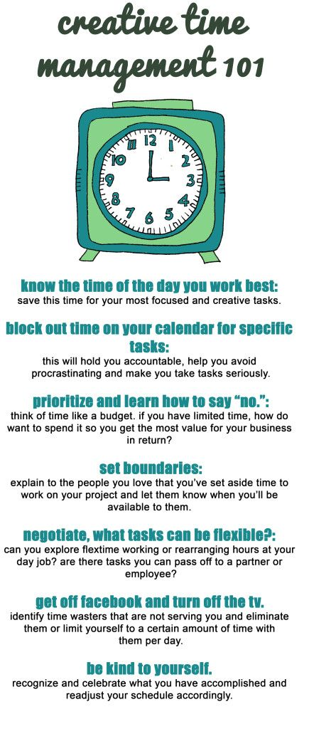 time management! Be More Creative Pinterest Time management