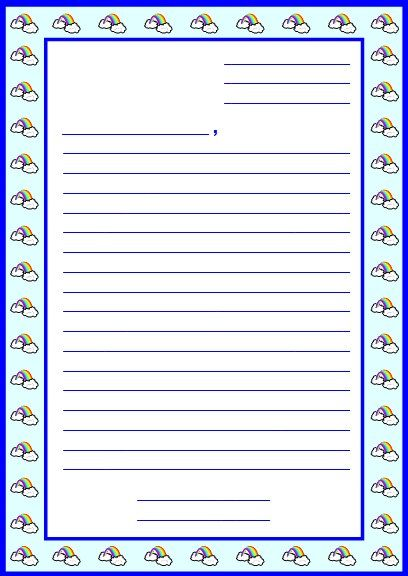 free printable friendly letter stationery report projects templates printable worksheets and grading rubric