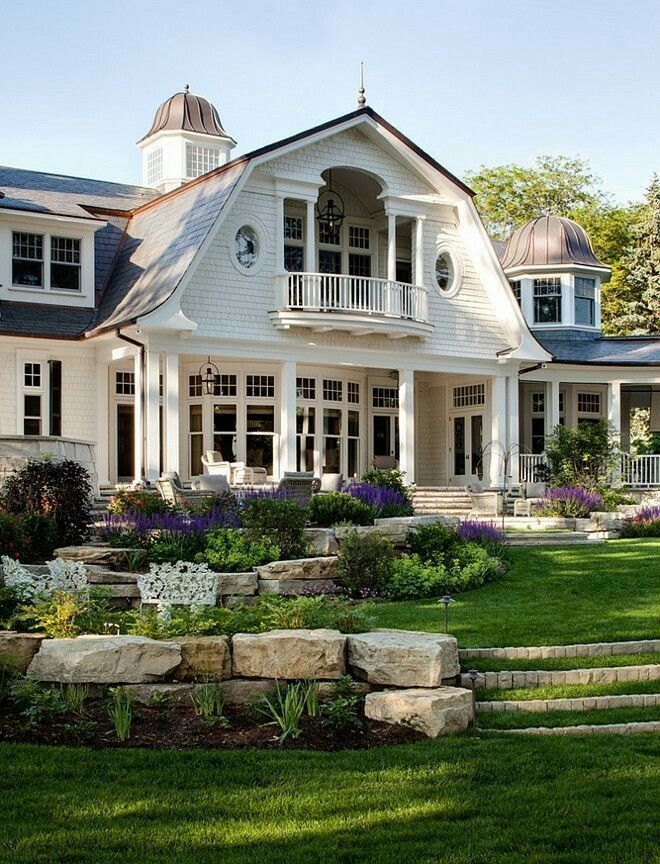 Just beautiful my favs style pinterest house for Luxury shingle style house plans