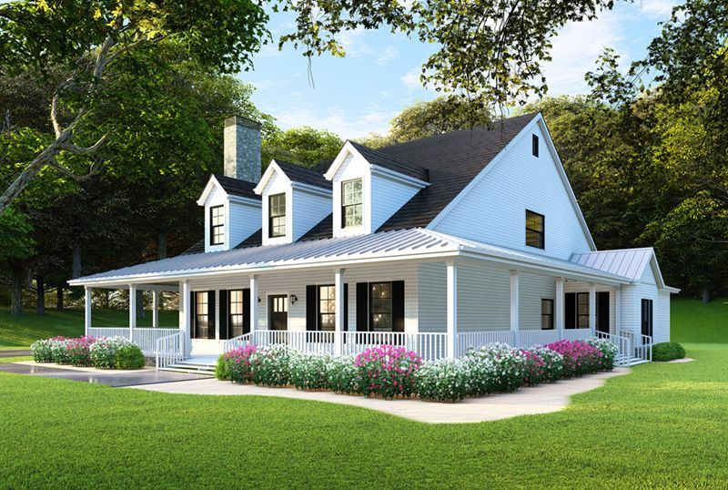 Raven Ranch Country Home House Plans Farmhouse Country Style House Plans Craftsman Style House Plans