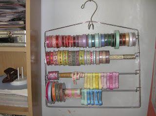 Heather Creswell Creswell Roisum Adams - hanger for ribbon spools,  #Adams #Creswell #Hanger #Heather #pantshangerideasdiy #Ribbon #Roisum #spools