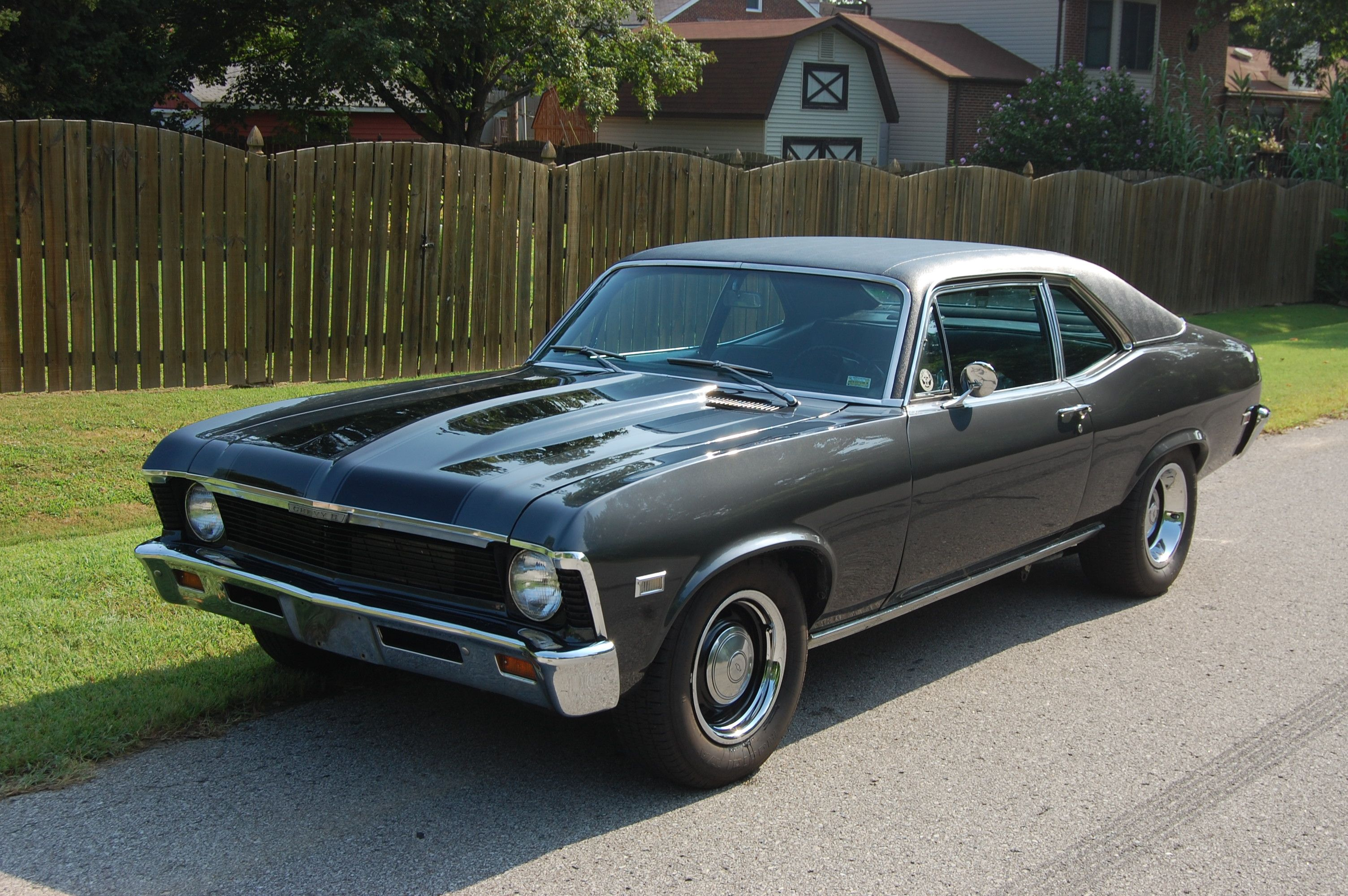 1968 Chevy Nova The First Car I Bought Mine Was Yellow With A Black Vinyl Top Chevy Nova Chevy Black Vinyl
