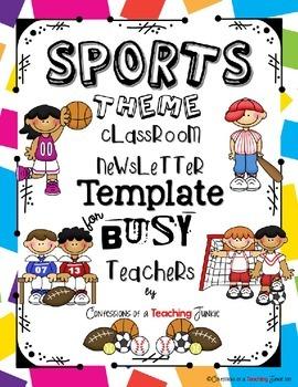 Sports Theme Newsletter Template Powerpoint Classroom