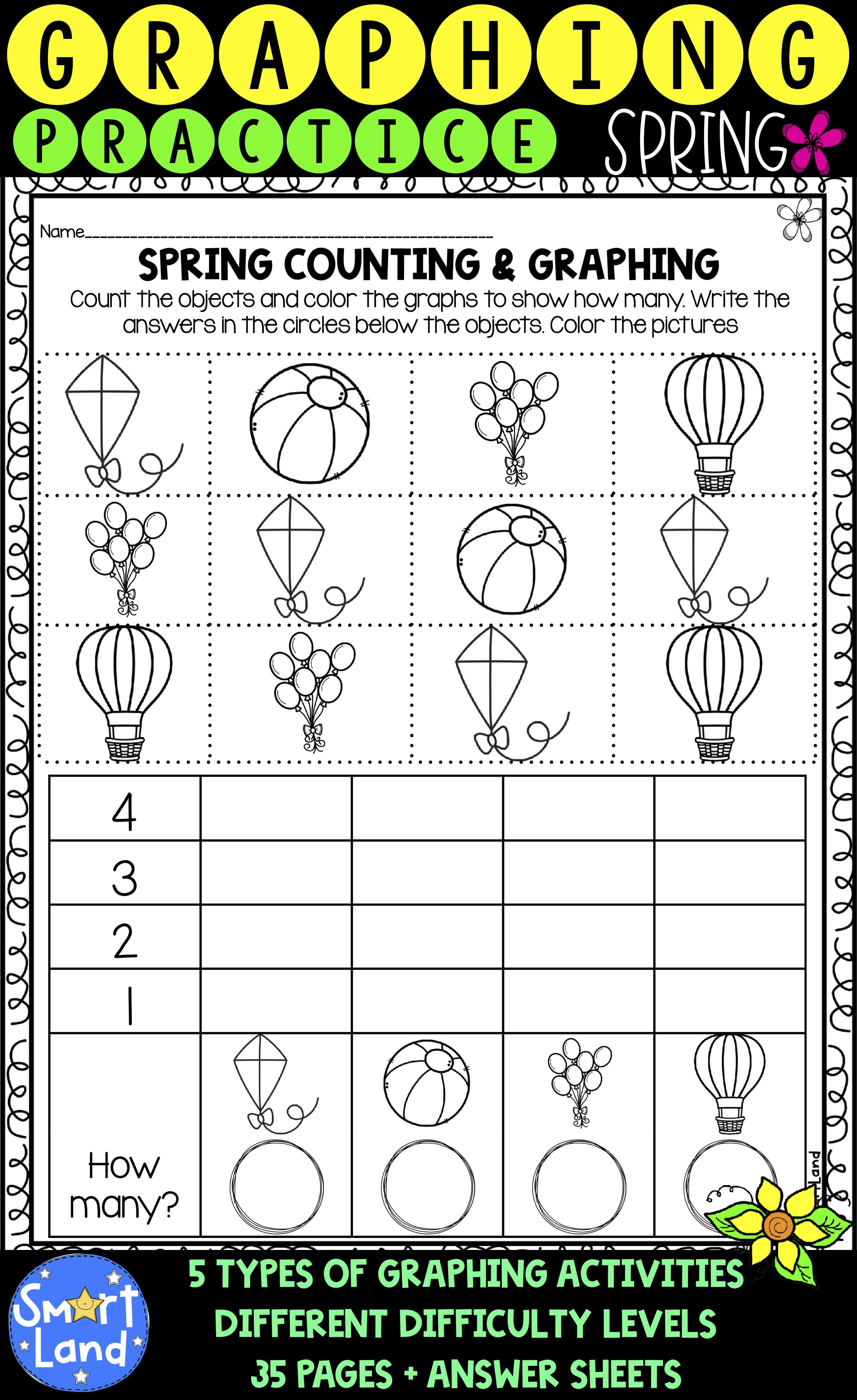 Graphing And Counting Practice Spring Edition Graphing Activities Graphing Teaching Energy [ 5000 x 3062 Pixel ]