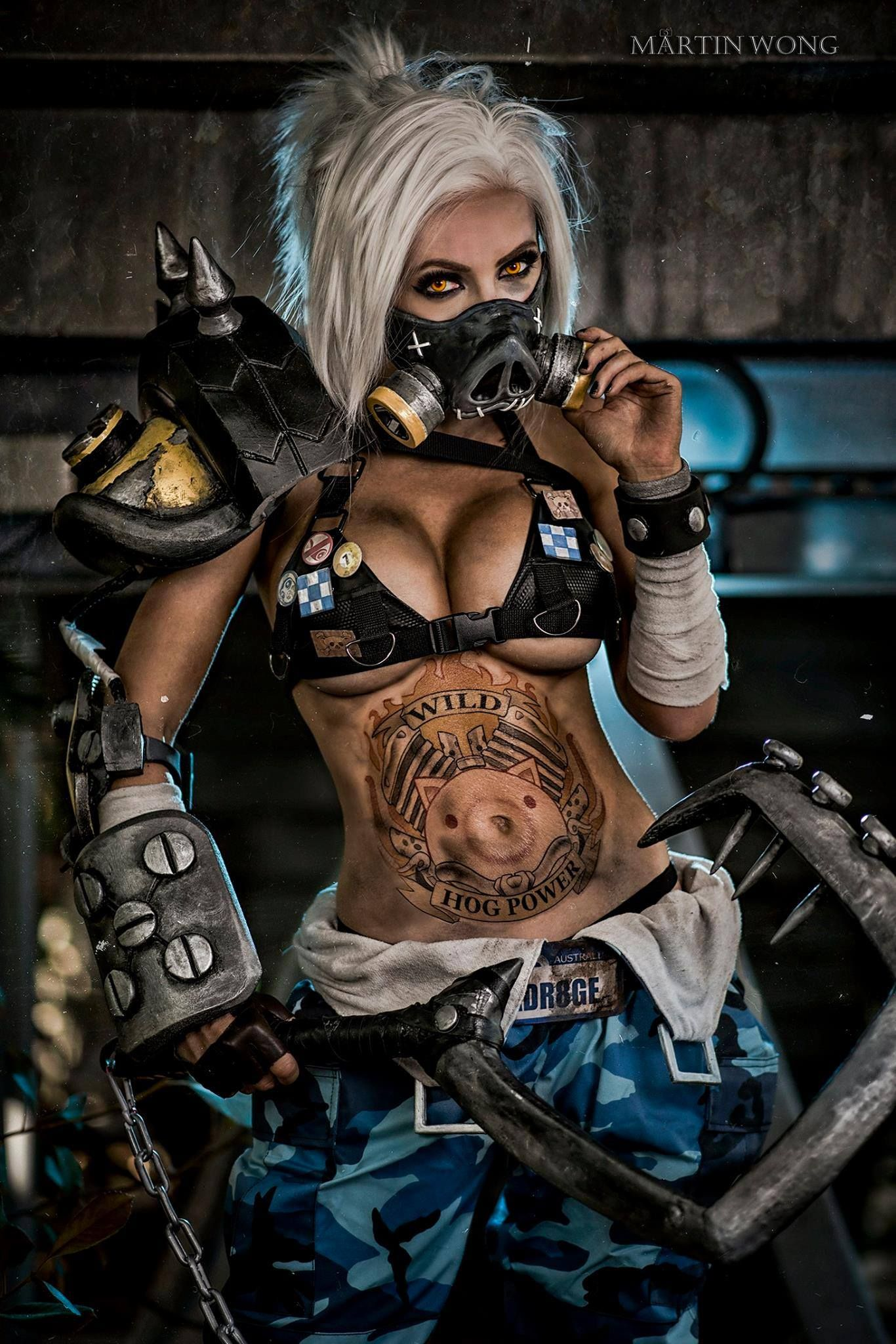 Videogame Overwatch Character RoadHog Cosplayer